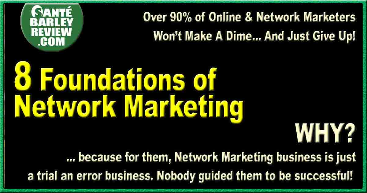 8 foundations of network marketing