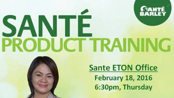 Sante Product Training by Vivian Causapin