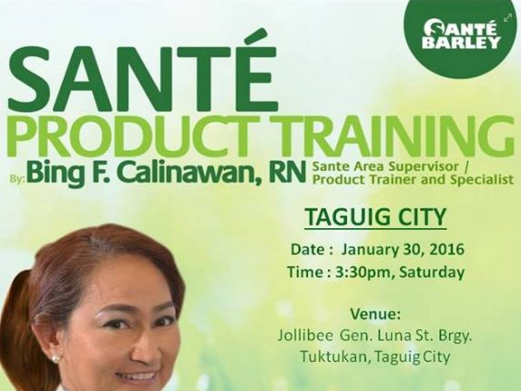 Sante Product Training in Taguig City