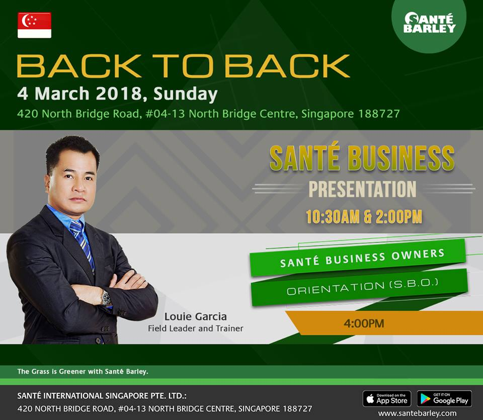 2018 Back to back SBO in Singapore - March 4