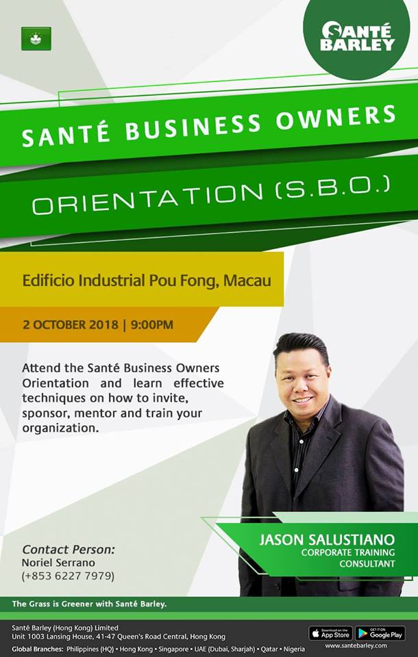 2018 Sante Business Owner Orientation in October