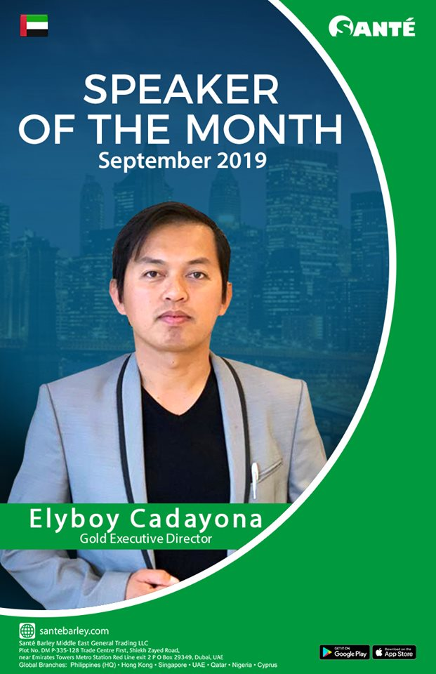 Elyboy Cadayona Sante UAE Speaker of the Month