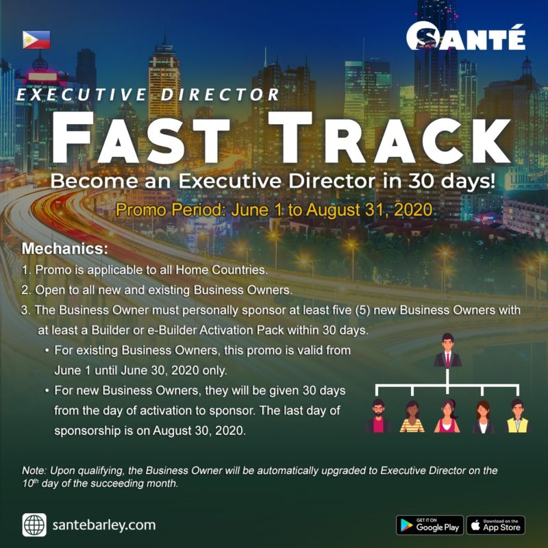 Executive Director Fast Track Promo